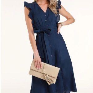 Lulu Sophie Button-Up Midi Dress